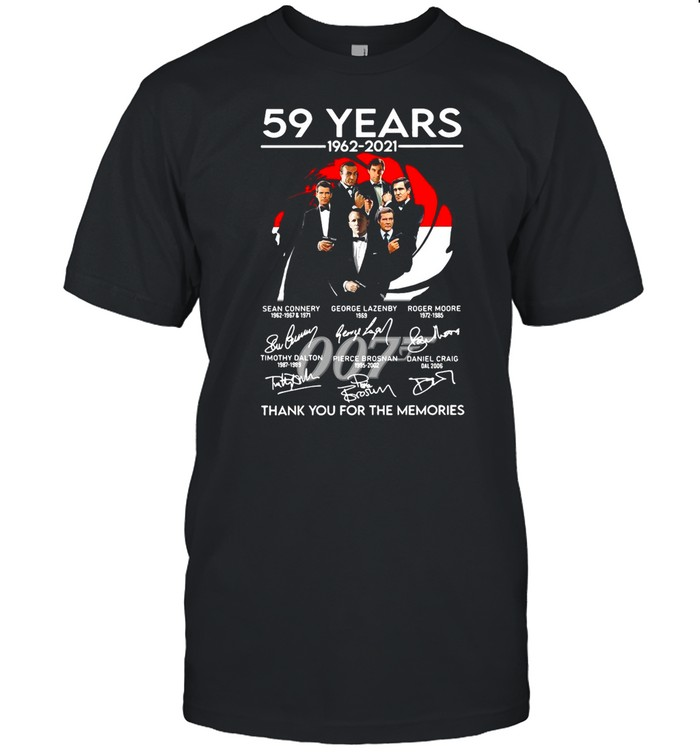 077 59 Years 1962 2021 Signatures Thank You For The Memories shirt Classic Men's T-shirt