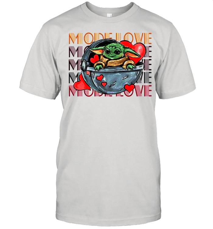 Baby Yoda The Mandalorian Mode Love shirt Classic Men's