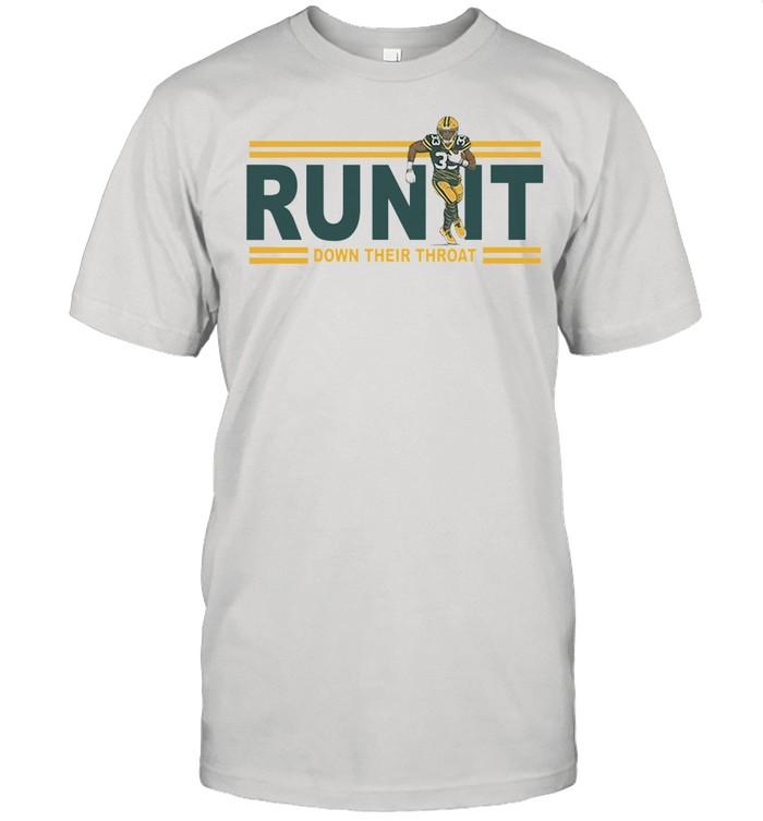 Run it down their throat Aaron Jones Green Bay Packers shirt Classic Men's