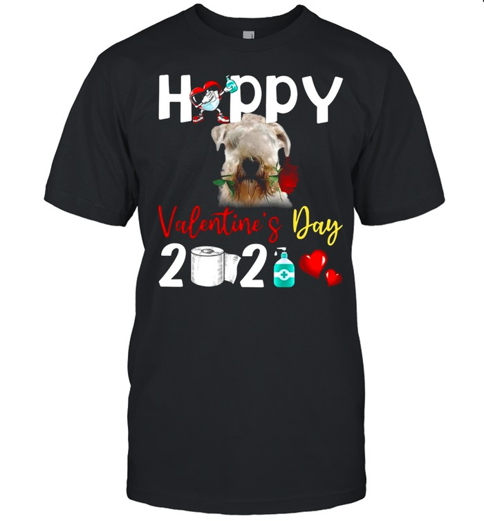 Soft coated Wheaten Terrier Happy Valentines Day With Toilet Paper 2021 shirt Classic Men's