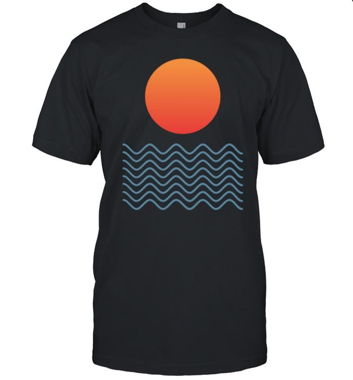 Sunset Over Waves shirt Classic Men's