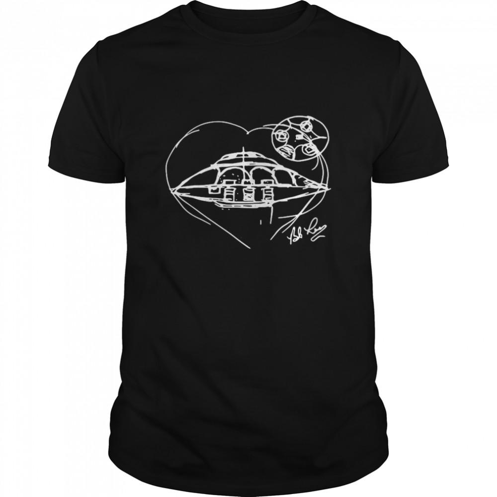 Bob Lazar Uap Sketch shirt Classic Men's