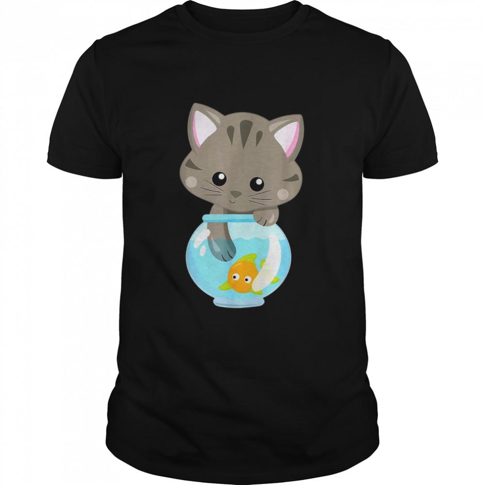 Cat Fish Mom Ladies Feline Kittens Lover shirt Classic Men's