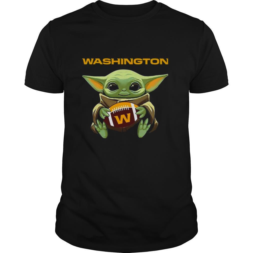 Baby Yoda Hug Washington Football Team shirt Classic Men's