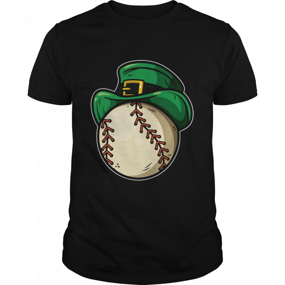 Shamrock Baseball Leprechaun St Patricks Day shirt Classic Men's