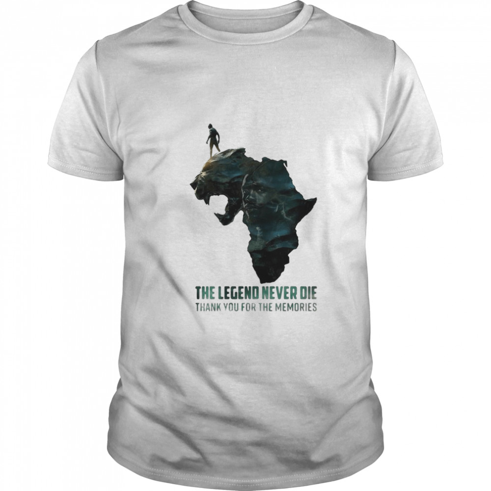 Black Panther The Legend Never Die Thank You For The Memories shirt Classic Men's
