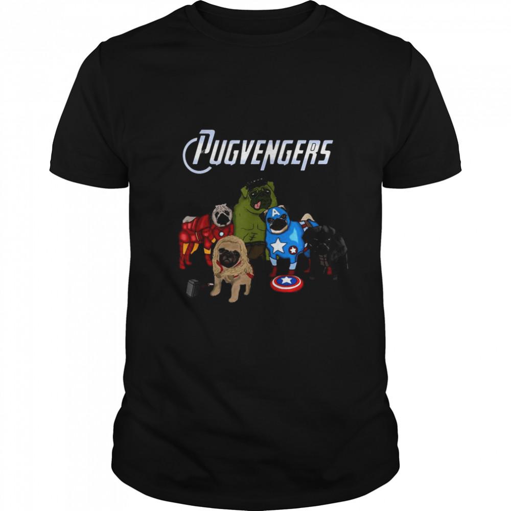 Marvel Pug Dog Pugvengers shirt Classic Men's