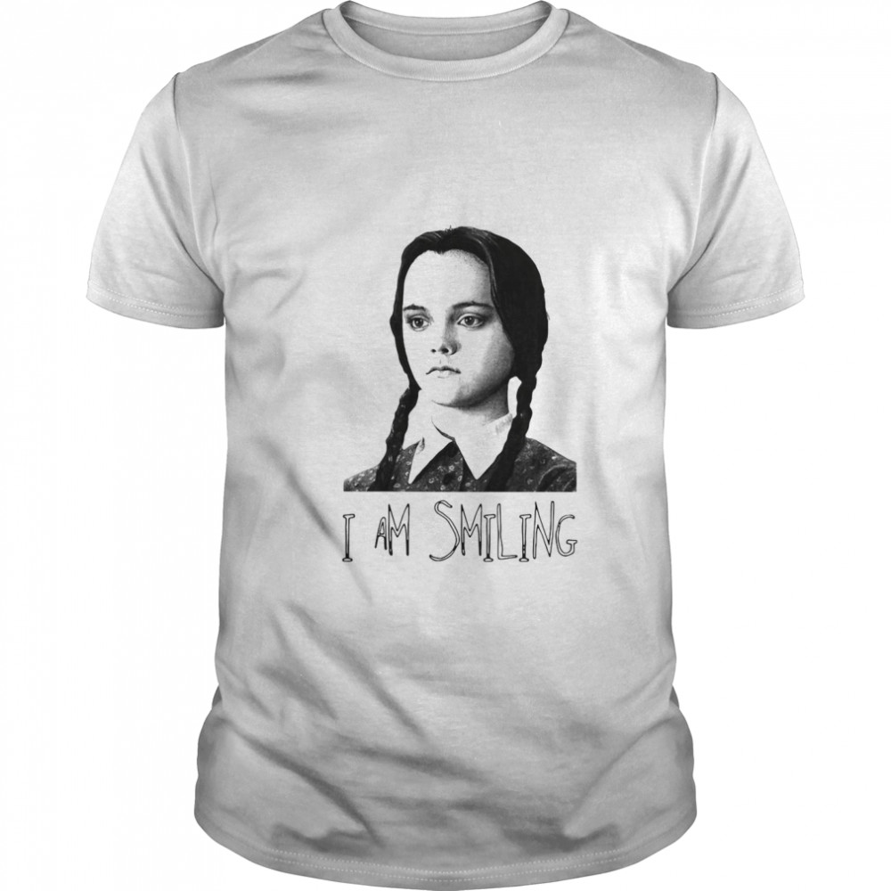 Wednesday Addams Fictional Character I Am Smiling shirt Classic Men's
