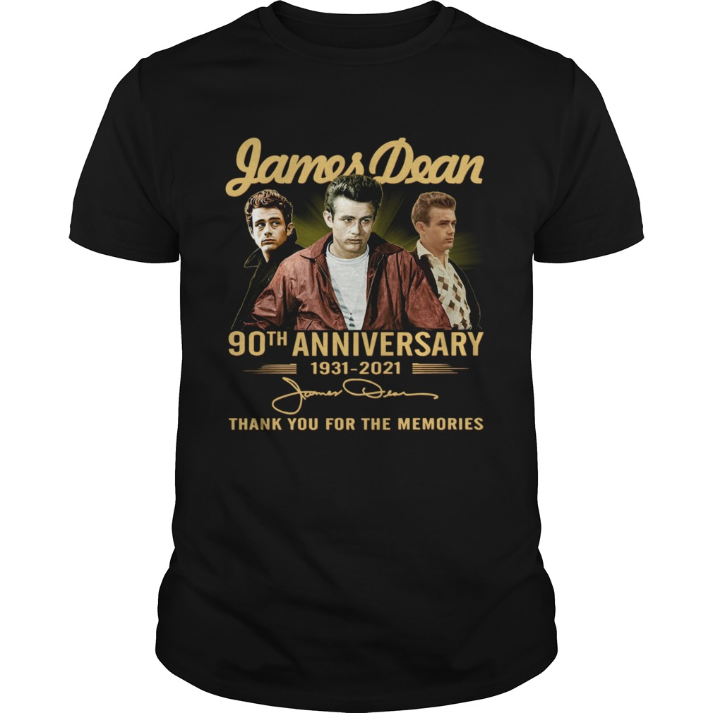 James Dean 90th Anniversary 1931 2021 Thank You For The Memories Signature shirt Classic Men's