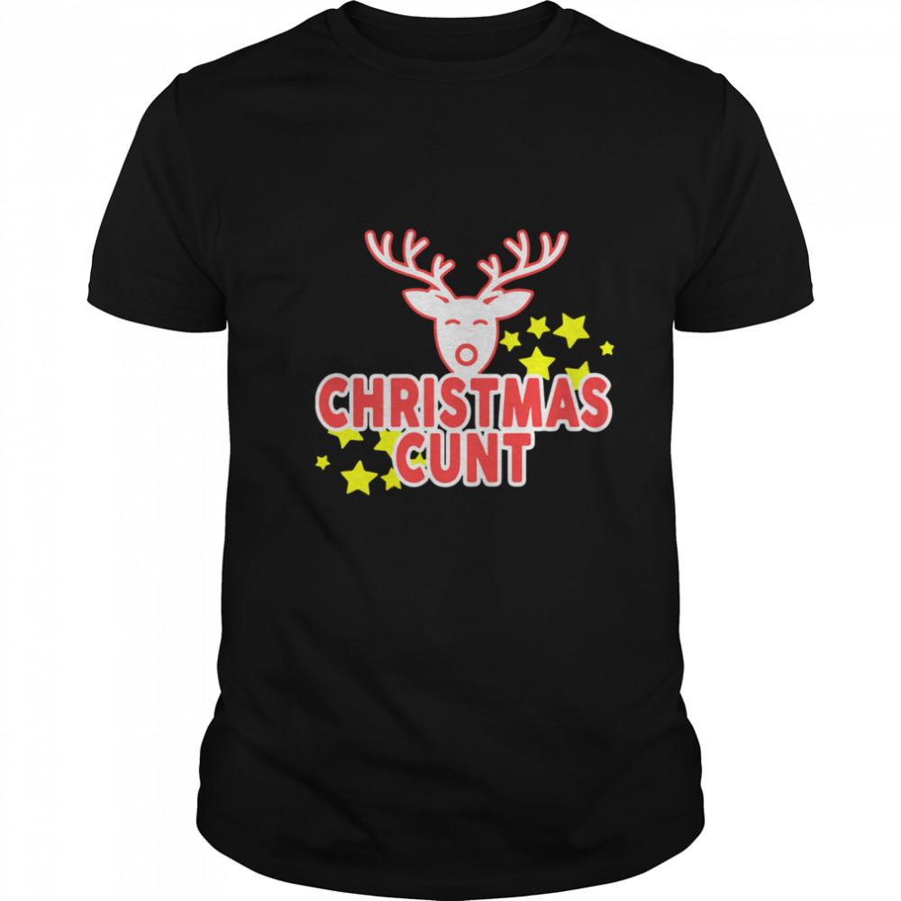 Reindeer Christmas Cunt shirt Classic Men's