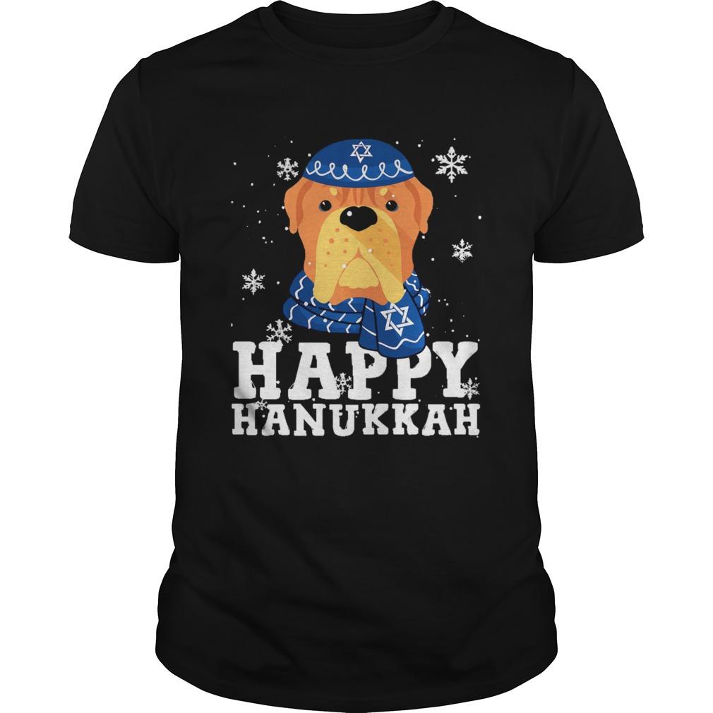 Merry Christmas Happy Hanukkah French Mastiff Dog Funny Noel Xmas shirt Classic Men's