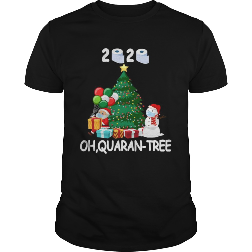 2020 Quarantine Christmas Tree Ornament Mask shirt Classic Men's