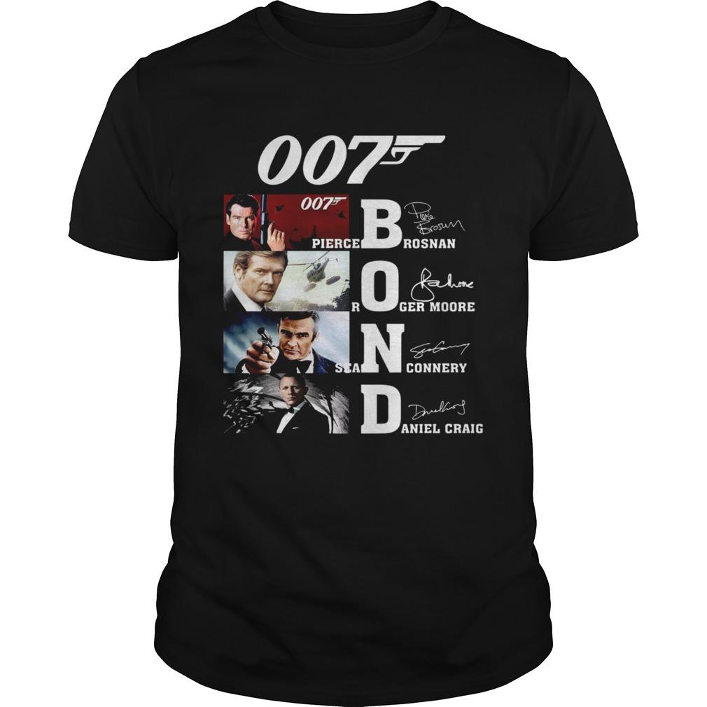 007 Pierce Brosnan Roger Moore Sean Connery Daniel Craig Signature shirt Classic Men's