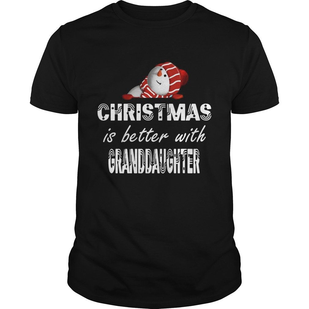Christmas Is Better Granddaughter shirt Classic Men's