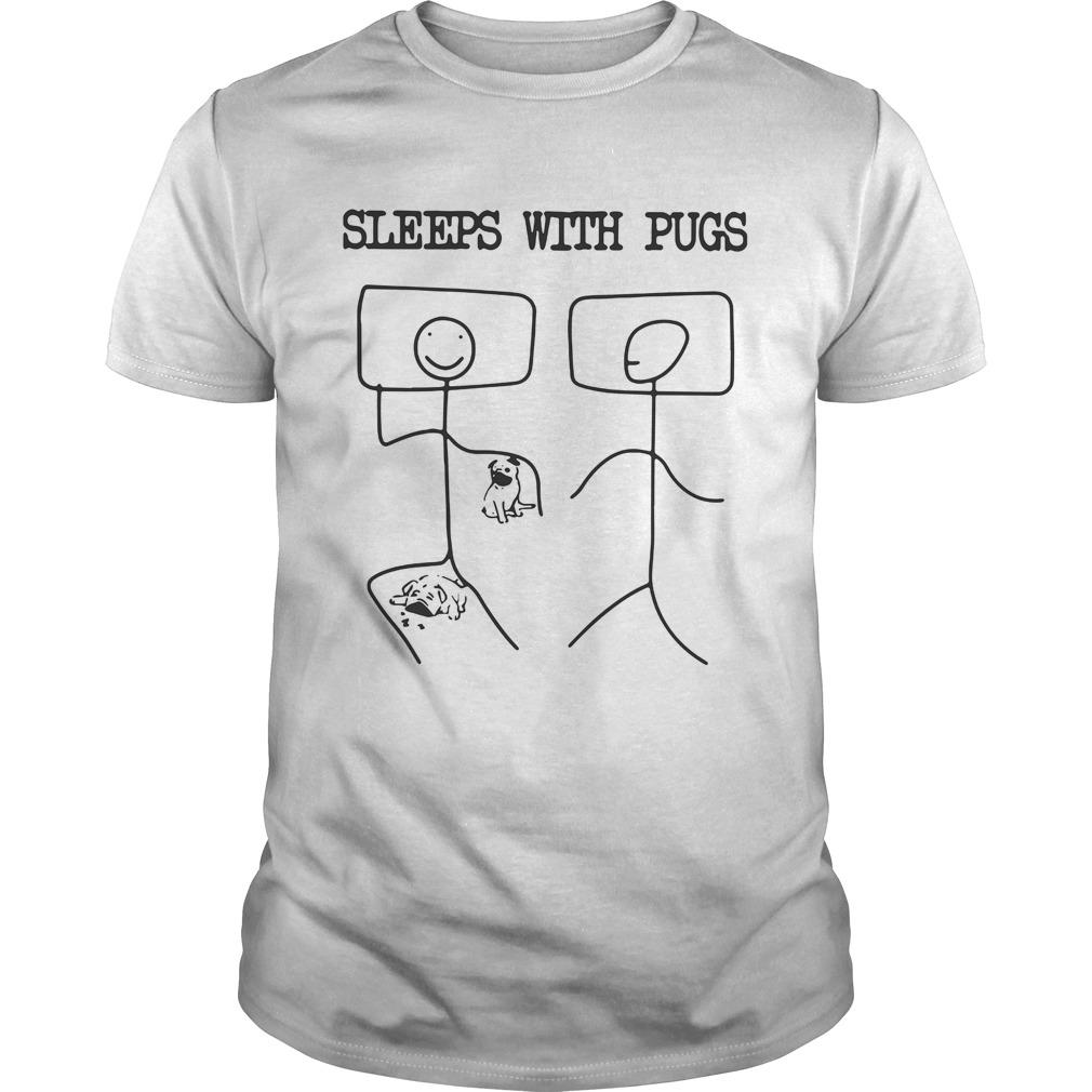 Sleeps With Pugs shirt Classic Men's