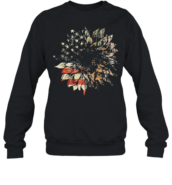 American Hunter Sunflower Flag shirt Unisex Sweatshirt