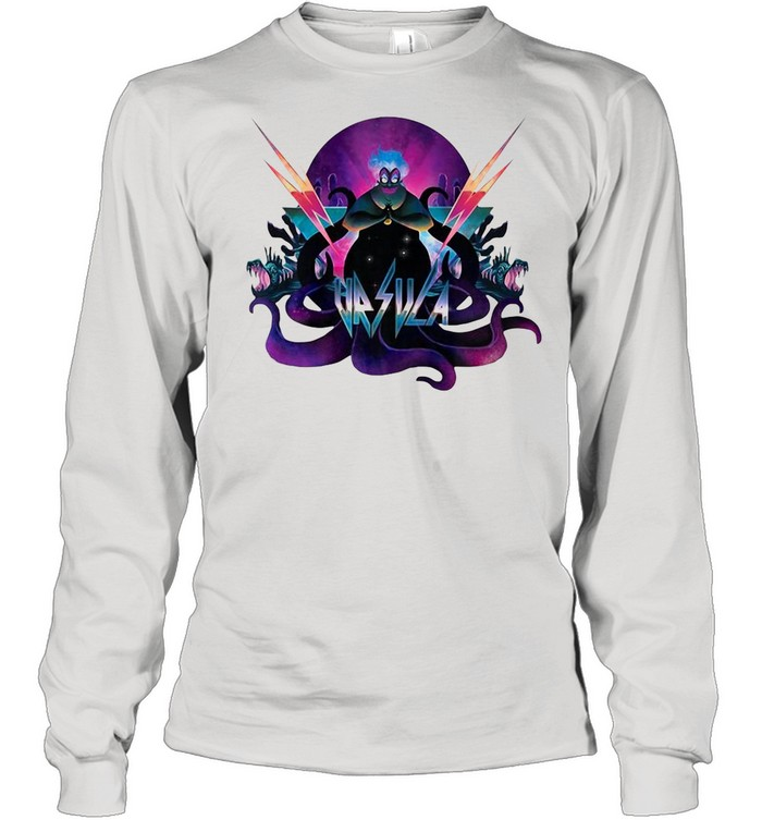Disney Villains Ursula 90S Rock Band Neon shirt Long Sleeved T-shirt