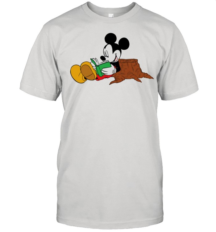 Mickey Mouse reading books shirt Classic Men's T-shirt