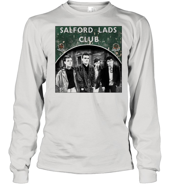 Smiths Salford Lads Club Original Square Print – The Queen Is Dead shirt Long Sleeved T-shirt