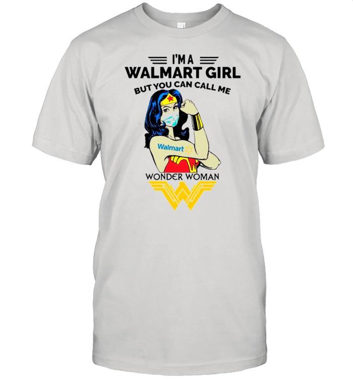 Strong Wonder Woman Face Mask Im A Walmart Girl But You Can Call Me shirt Classic Men's T-shirt