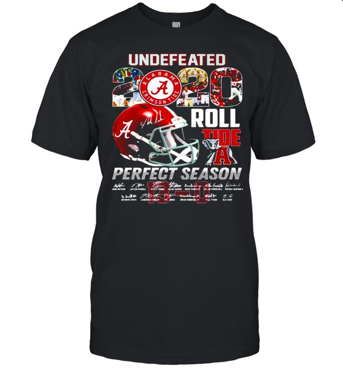 Alabama Crimson Tide undefeated 20 Roll Tide perfect season signatures shirt Classic Men's T-shirt