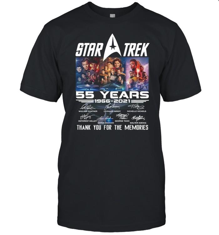 Marvel Star Trek Movie 55 Years 1966 2021 Signatures Thanks For The Memories shirt Classic Men's T-shirt