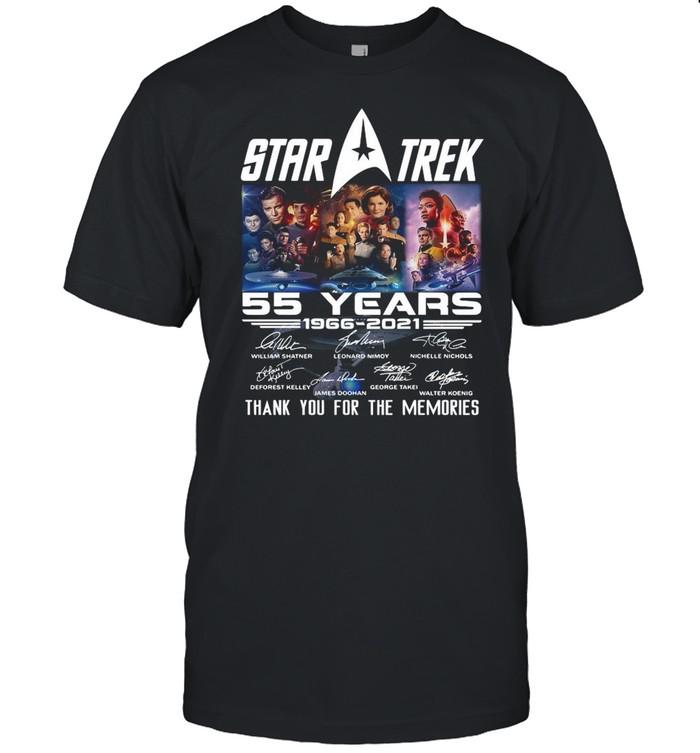 Star Trek Movie 55 Years 1966 2021 Signatures Thanks For The Memories shirt Classic Men's T-shirt