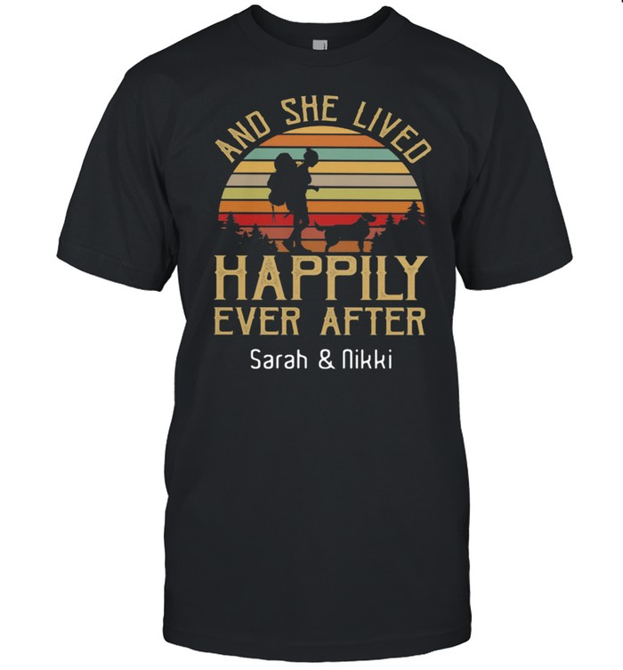 And She Lived Happily Ever After Sarah And Nikki Vintage Sunset shirt Classic Men's T-shirt