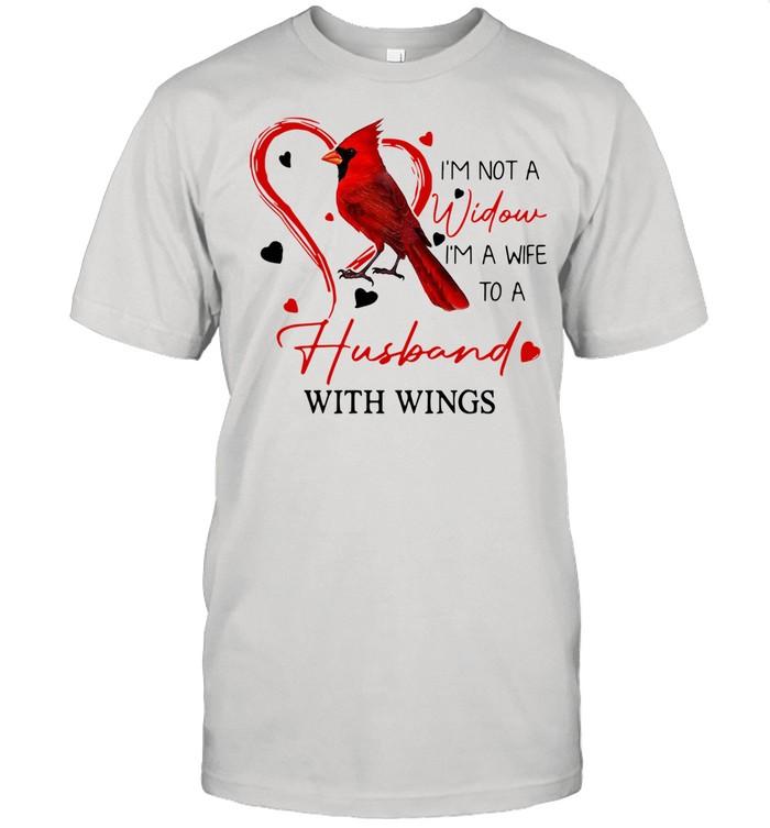 I'm Not A Widow I'm A Wife To A Husband With Wings shirt Classic Men's T-shirt