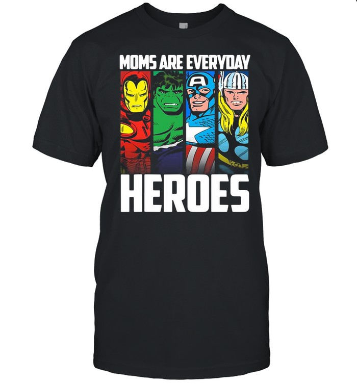 Marvel Mother's Day Mom Are Everyday Heroes shirt Classic Men's T-shirt