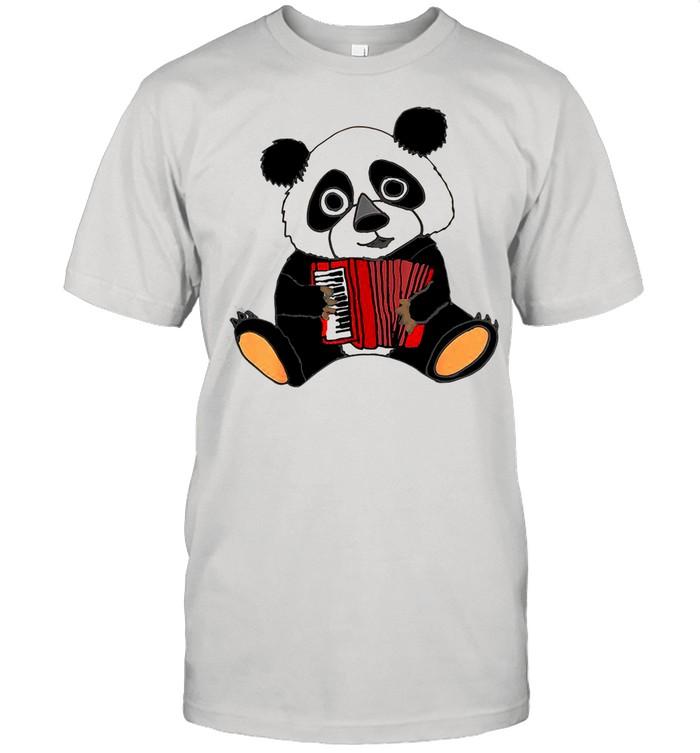 Smilemoreteesa Funny Panda Bear Playing Accordion shirt Classic Men's T-shirt