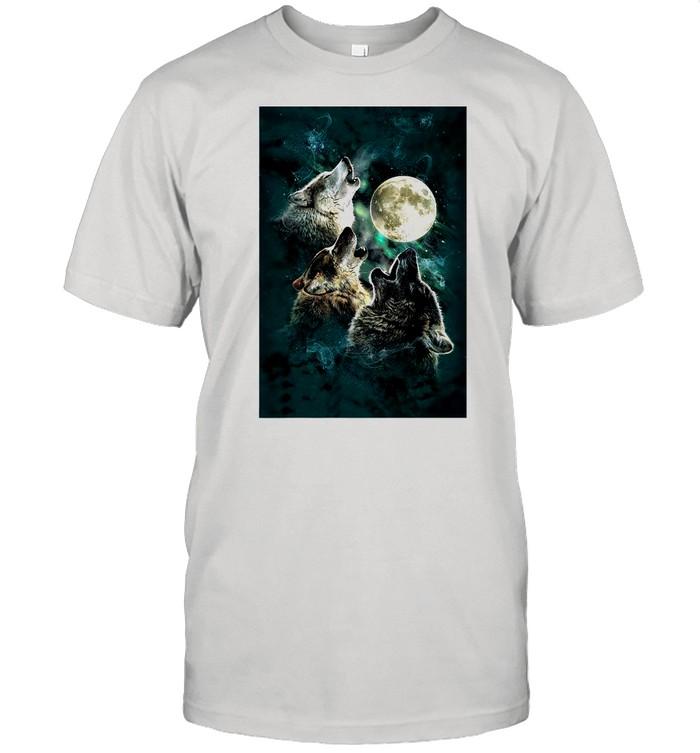 The Mountain Men's Three Wolf And Moon shirt Classic Men's T-shirt
