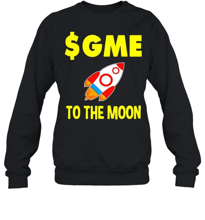 $GME To The Moon Gamestonk  Unisex Sweatshirt