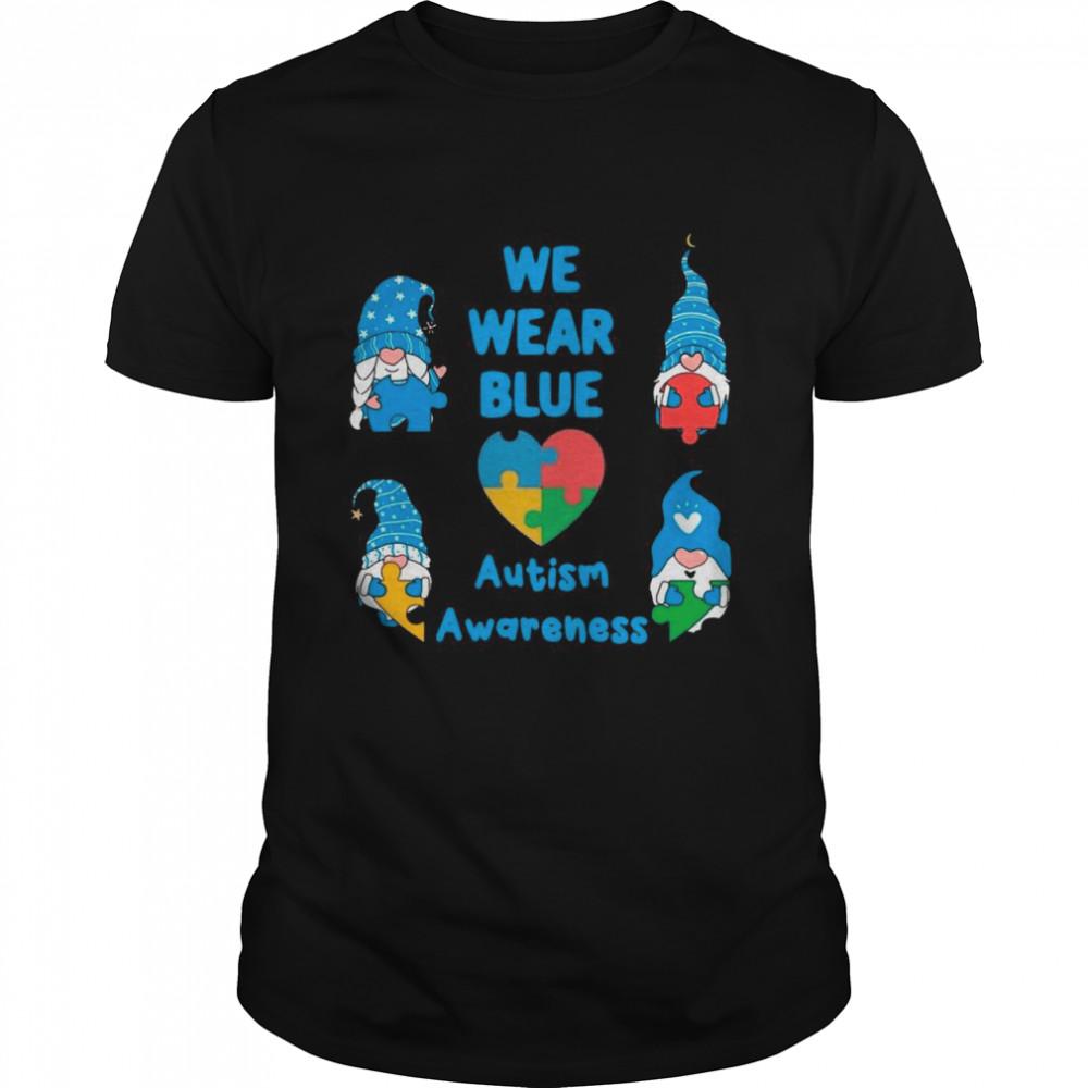 Gnomes We Wear Blue Love Autism Awareness 2021 shirt Classic Men's T-shirt