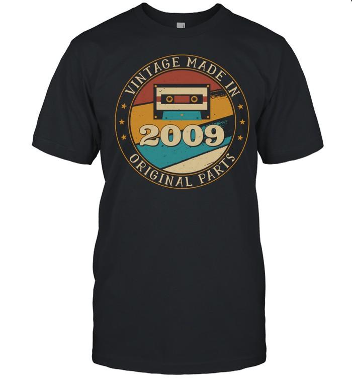 12 Jahre alt Mixtape Kassette Made in 2009 12 Geburtstag Langarmshirt shirt Classic Men's T-shirt