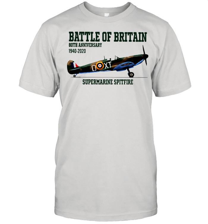 Battle Of Britain Both Anniversary 1940 2020 Supermarine Spitfire  Classic Men's T-shirt