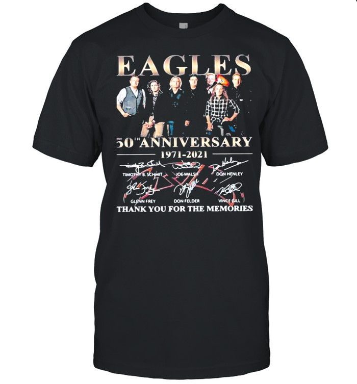Eagles 50th Anniversary 1971 2021 Thank You For The Memories Signature  Classic Men's T-shirt