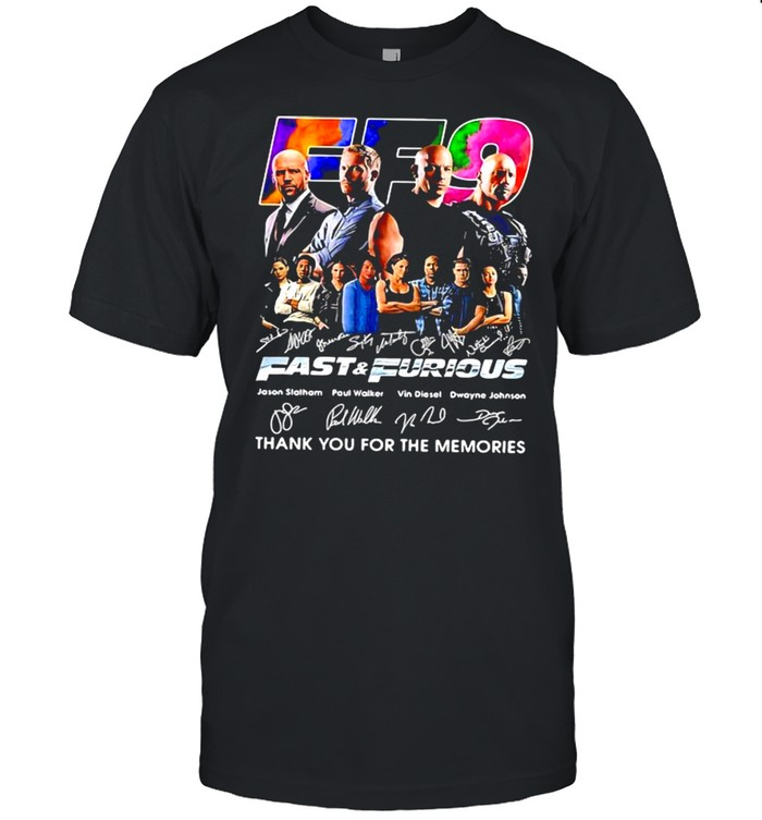 Fast And Furious Thank You For The Memories Signature  Classic Men's T-shirt