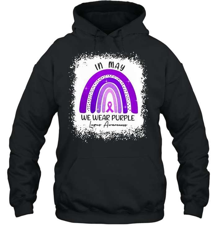 In May We Wear Purple Lupus Awareness shirt Unisex Hoodie