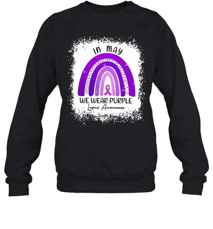 In May We Wear Purple Lupus Awareness shirt Unisex Sweatshirt