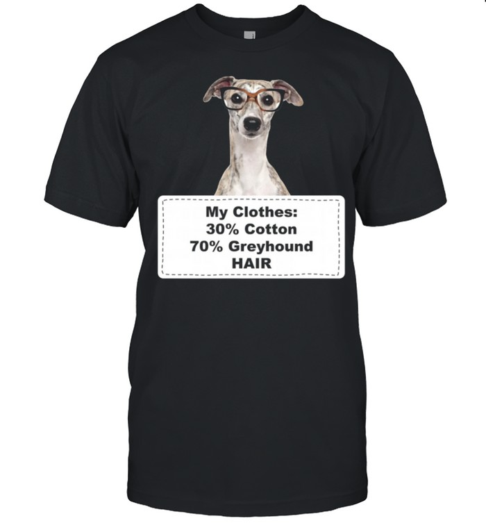 Shedding Dog Greyhound w Glasses shirt Classic Men's T-shirt