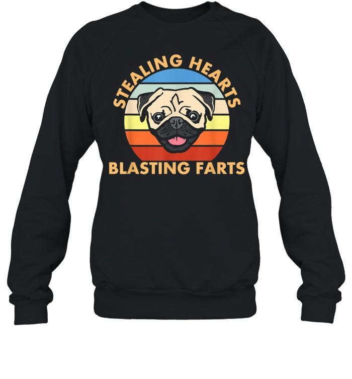 Stealing Hearts and Blasting Farts Dog Pug shirt Unisex Sweatshirt