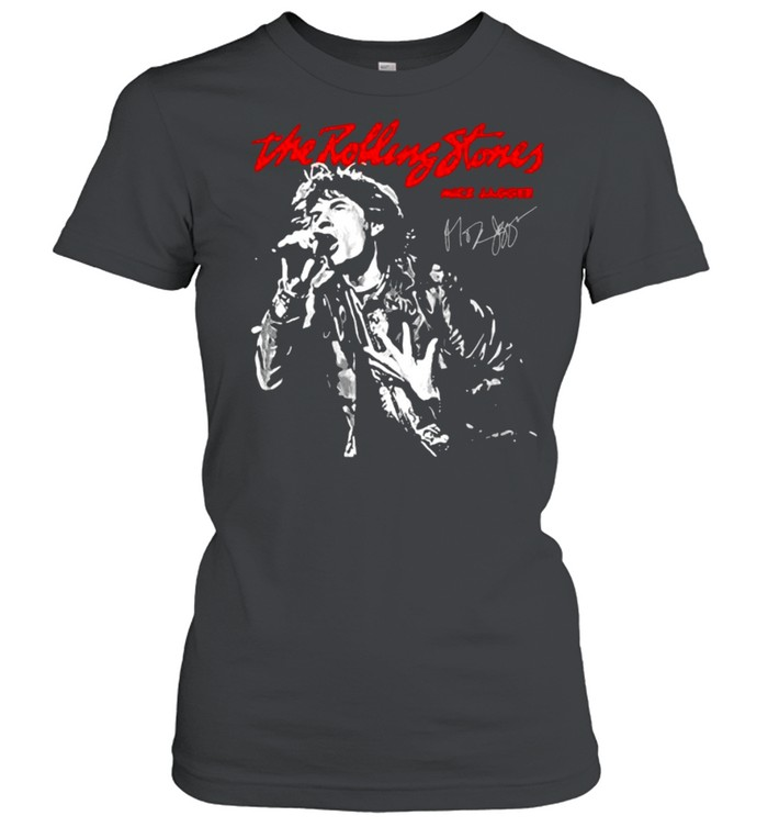 The Rolling Stones Mick Jagger Signature  Classic Women's T-shirt