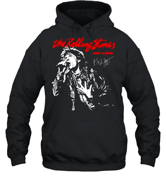 The Rolling Stones Mick Jagger Signature  Unisex Hoodie