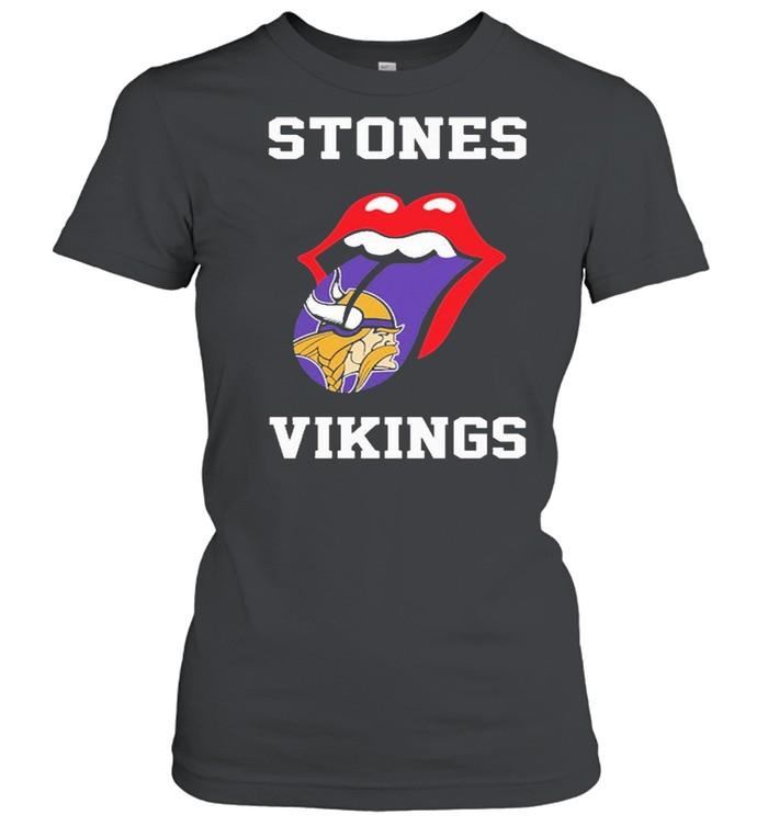 The Rolling Stones Minnesota Vikings 2021 shirt Classic Women's T-shirt