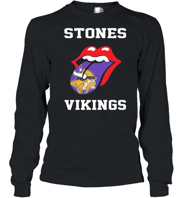 The Rolling Stones Minnesota Vikings 2021 shirt Long Sleeved T-shirt