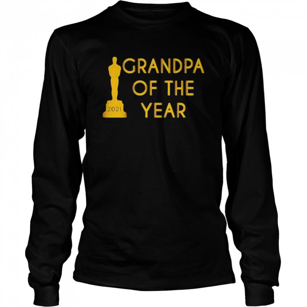 Grandpa of the Year 2021 shirt Long Sleeved T-shirt