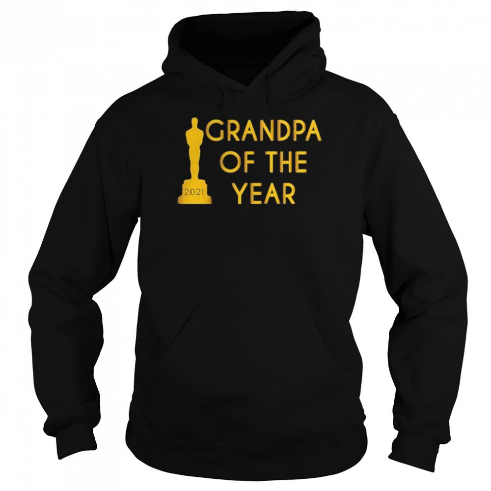 Grandpa of the Year 2021 shirt Unisex Hoodie