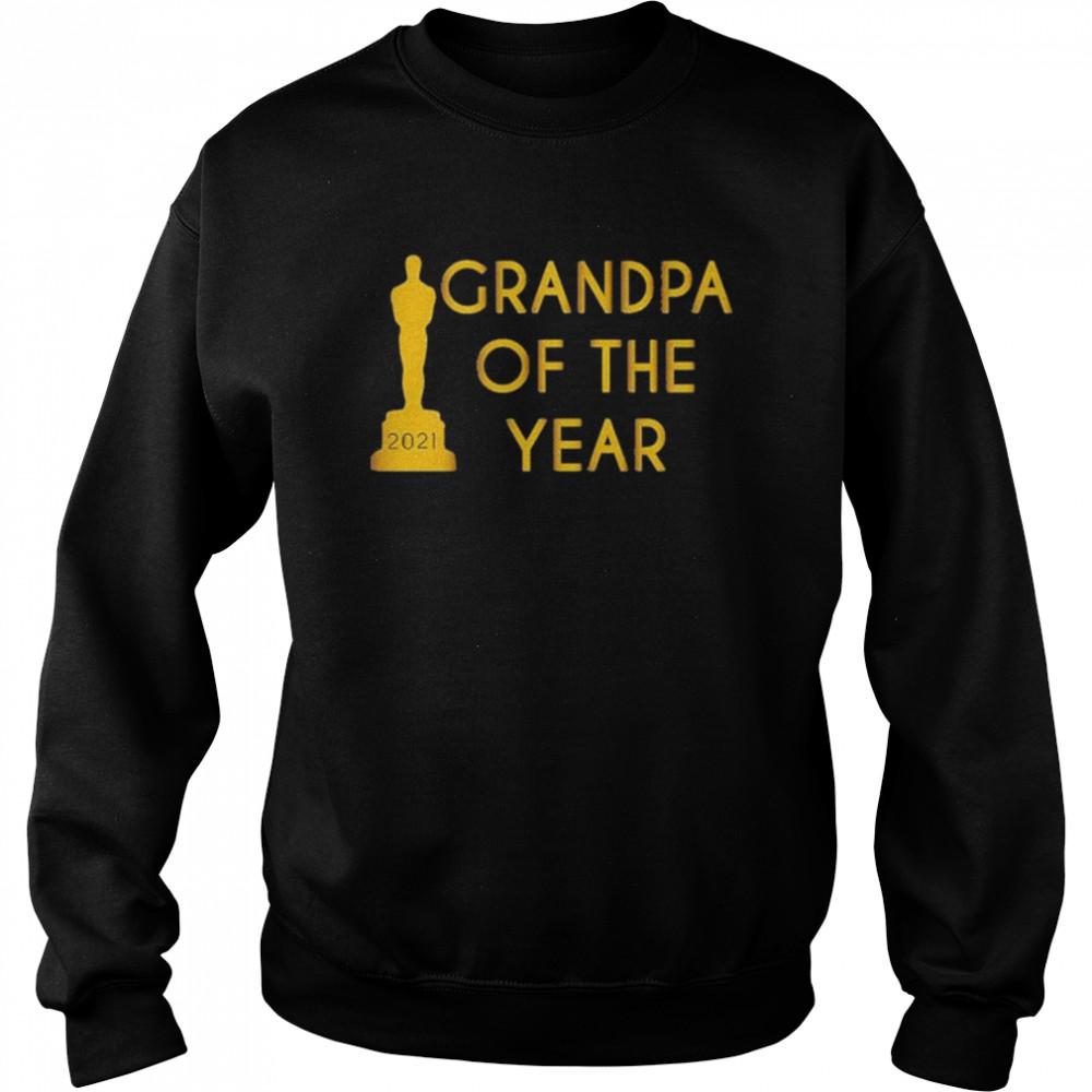 Grandpa of the Year 2021 shirt Unisex Sweatshirt