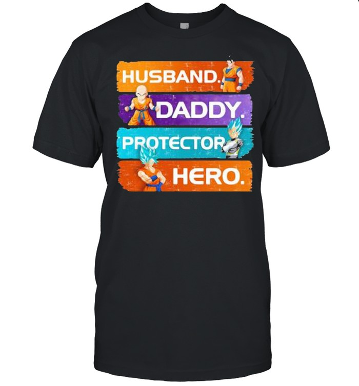 Husband Son Gohan Daddy Protector Hero Son Goku Dragon Ball  Classic Men's T-shirt